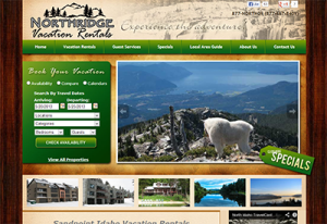 Vacation Rental Website Sandpoint