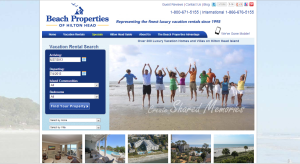 Beach Properties of Hilton Head's website LiveRez