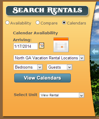LiveRez Calendar Search