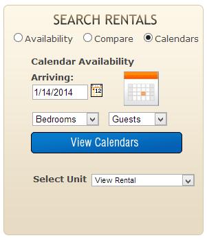 LiveRez Calendar Search