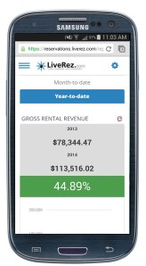LiveRez's performance dashboard allows you to track the performance of your business anywhere on any device.