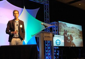 Priceline Chief Marketing Officer Brett Keller gives keynote address at 2014 LiveRez Partner Conference.