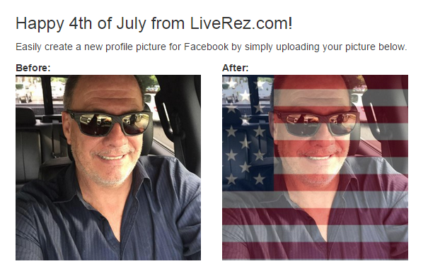 American Flag Profile Photo Creator