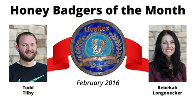 LiveRez Honey Badger Award Winners