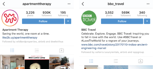 Instagram Account Examples